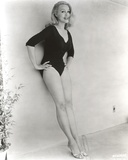 Julie Newmar Leaning Posed in Black Lingerie Photo by  Movie Star News