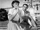 Audrey Hepburn and Gregory Peck in Roman Holiday Photo by  Movie Star News