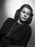 Rita Hayworth Posed with a Cross Pendant Necklace Photo by A.L. Schafer