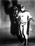 Batman posed in Portrait with Black Background Photo by  Movie Star News