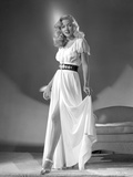 Gloria Grahame Curly Hair Posed in a White Dress Photo by  Movie Star News