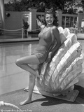 Rita Hayworth Swim suit Attire with a smiling Pose Photo by  Movie Star News