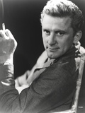 Kirk Douglas Posed on Table Lamp Black and White Photo by  Movie Star News