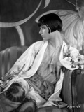 Louise Brooks Looking Away in Floral Dress Portrait Photo by  Movie Star News