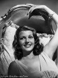 Rita Hayworth Leaning and Relaxing on a Chair Photo by A.L. Schafer