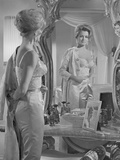 Angie Dickinson in the Mirror Black and White Photo by  Movie Star News
