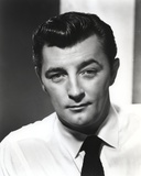 Robert Mitchum Posed in White Shirt and Black Tie Photo by  Movie Star News