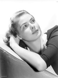 Ingrid Bergman Lying on a Couch in Black Blouse Photo by  Movie Star News
