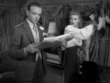 Fred Astaire and Ginger Rogers Reading Paper in Suit Photo by  Movie Star News