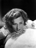 Irene Dunne Leaning on a Furry Cloth Portrait Photo by  Movie Star News