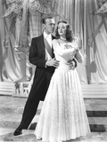 Fred Astaire with Woman in Dress Black and White Photo by  Movie Star News