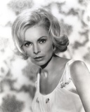 Janet Leigh Portrat in White Scoop-Neck Strap Dress Photo by  Movie Star News