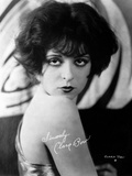 Clara Bow Posed in Tank top with Dark lipstick Photo by ER Richee