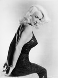 Mamie Van Doren sitting in Black Dress Portrait Photo by  Movie Star News