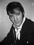Elvis Presley Portrait in Black and White with Scarf Photo by  Movie Star News
