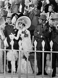 Audrey Hepburn Looking Shocked in Long Gown with Hat Photo autor Movie Star News
