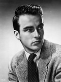 Montgomery Clift Looking Right in Coat and Tie Photo by Bud Fraker