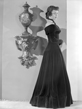 Gloria Grahame Side View Posed in a Black Dress Photo by  Movie Star News