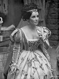 Elizabeth Taylor Looking Away in Formal Dress Photo by Bob Penn