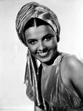 Lena Horne Close Up Portrait in Black and White Photo by  Movie Star News