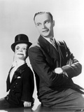 Edgar Bergen Leaning in Black Suit With Puppet Photo by  Movie Star News