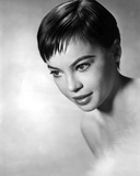 Leslie Caron Close Up Portrait in Black and White Photo by  Movie Star News