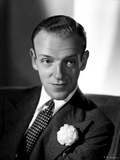 Fred Astaire Posed in Black Suit, Seated on Couch Photo by E Bachrach