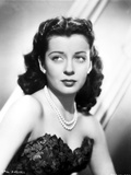 Gail Russell Posed in Corset and Pearl Necklace Photo by  Movie Star News