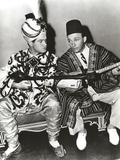 Bob Hope Seated with Man, wearing Arabian Outfit Photo by  Movie Star News