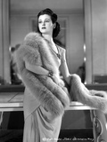 Joan Bennett on a Furry Shawl and standing Portrait Photo by  Movie Star News