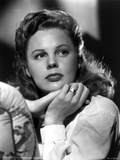 June Allyson Curly Hair Posed in White Long Sleeves Photo by  Movie Star News