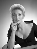 Kim Novak Red lipstick in Black Gown Portrait Photo by  Movie Star News