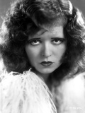 Clara Bow Close Up Portrait with Curly Hair Style Photo by ER Richee