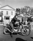 Marlon Brando Movie Scene with a Guy Riding a Bike Photo by  Movie Star News
