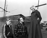 Marlon Brando Staring to a Girl in Coat with a Boy Photo by  Movie Star News