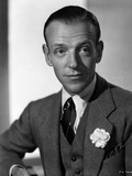 Fred Astaire Close Up Portrait in Black and White Photo by E Bachrach