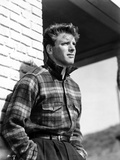 Burt Lancaster wearing Checkered Long Sleeve Polo Photo by  Movie Star News