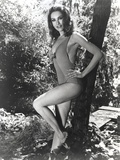 Julie Newmar Leaning on Tree in Lingerie Outfit Photo by  Movie Star News