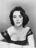 Elizabeth Taylor posed in Dress Classic Portrait Photo by  Movie Star News