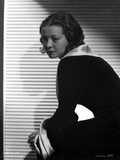 Sylvia Sidney sitting and posed in Black Dress Photo by  Movie Star News