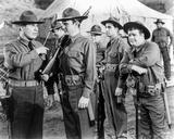 Abbott & Costello in Ranger Uniform Holding Gun Photographie par  Movie Star News