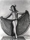 Ann Miller Spreading Her Skirt in a Classic Portrait Photo by  Movie Star News