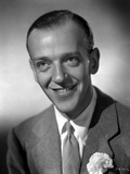 Fred Astaire smiling in Suit with Flower Brooch Photo by E Bachrach