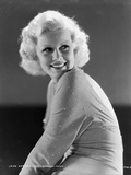 Jean Harlow Portrait in Silk Robe and Black Pelt Photo by  Movie Star News