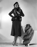 Irene Castle wearing a Black Dress with Furry Coat Photo by  Movie Star News