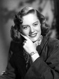 Alexis Smith smiling in Portrait with Wrist Watch Photo by  Movie Star News