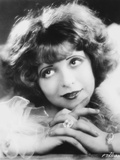 Clara Bow Looking Up in Fur Dress with Diamond Ring Photo by  Movie Star News