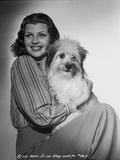 Rita Hayworth Posed with a Stripe Long Sleeve Photo by A.L. Schafer