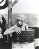 Stella Stevens Bathing in Drum Classic Portrait Photo by  Movie Star News