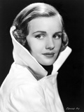 Frances Farmer in a Coat with Collars Popped Out Photo by  Movie Star News